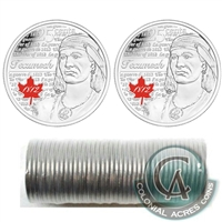 2012 Tecumseh Canada 25-Cents Original Roll of 40pcs - All Coloured