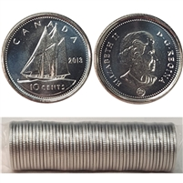 2013 Canada 10-Cent Original Roll of 50pcs