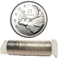 2013 Caribou Canada 25-Cent Original Roll of 40pcs.
