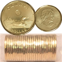 2013 Canada Loon Dollar Original Roll of 25pcs.