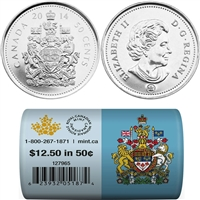 2014 Canada 50-cents Special Wrap Roll of 25 pieces - 127965