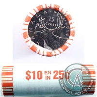 2014 Caribou Canada 25-Cent Original Roll of 40pcs.
