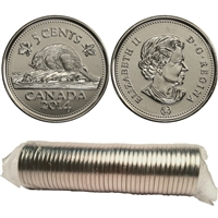 2014 Canada 5-cents Original Roll of 40pcs