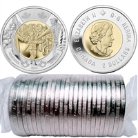 2014 Canada $2.00 Wait For Me, Daddy Original Wrap Roll of 25pcs