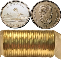 2014 Canada Loon Dollar Original Roll of 25pcs