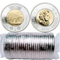 2014 Canada Polar Bear Two Dollar Roll of 25pcs