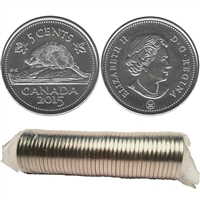 2015 Canada 5-cent Original Roll of 40pcs