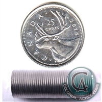 2015 Caribou Canada 25-Cent Original Roll of 40pcs.