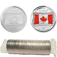2015 Flag Canada 25-Cent Roll of 40 pcs (some colour)