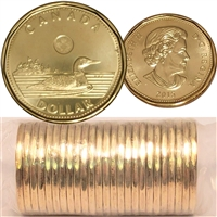 2015 Canada Loon Dollar Original Roll of 25pcs
