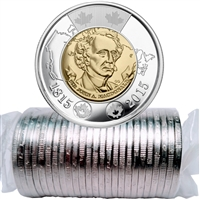 2015 Canada Sir John A. Macdonald Two Dollar Roll of 25pcs