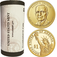 2015 US Presidential Dollar - Harry Truman D - Original Roll of 25pcs