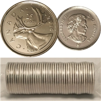 2016 Caribou Canada 25-Cent Original Roll of 40pcs.