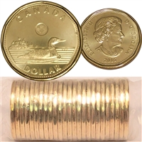 2016 Canada Regular $1 Original Loon Roll of 25 pcs