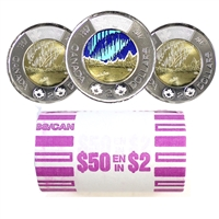 2017 Dance Canada Two Dollar Original Roll of 25pcs (Some Colour)