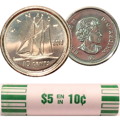 2018 Canada 10-cent Original Roll of 50pcs