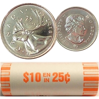 2018 Canada 25-cent Original Roll of 40pcs