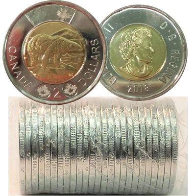 2018 Canada Two Dollar Original Roll of 25pcs