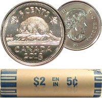2018 Canada 5-cent Original Roll of 40pcs