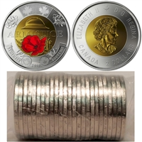 2018 Canada $2 Armistice Original Roll of 25pcs ALL COLOUR