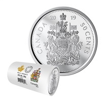 2019 Canada 50-cents Special Wrap Circulation Roll of 25 pcs