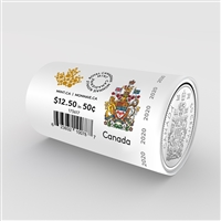 2020 Canada Special Wrapped 50 cents Coin Roll