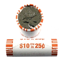 2020 Canada 25-cent Caribou Original Wrapped Roll of 40pcs