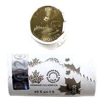 2020 Canada $1 Loon Dollar Special Wrap Original Roll of 25pcs