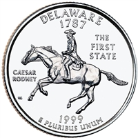 1999-P USA Statehood Quarter - Delaware Brilliant Uncirculated (MS-63)
