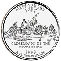 1999-P USA Statehood Quarter - New Jersey Brilliant Uncirculated (MS-63)