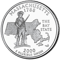 2000-P USA Statehood Quarter - Massachusetts Brilliant Uncirculated (MS-63)