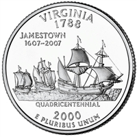 2000-P USA Statehood Quarter - Virginia Brilliant Uncirculated (MS-63)