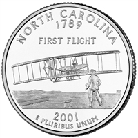 2001-D USA Statehood Quarter - North Carolina Brilliant Uncirculated (MS-63)