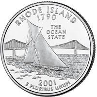 2001-D USA Statehood Quarter - Rhode Island Brilliant Uncirculated (MS-63)