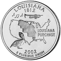 2002-P USA Statehood Quarter - Louisiana Brilliant Uncirculated (MS-63)