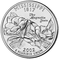2002-P USA Statehood Quarter - Mississippi Brilliant Uncirculated (MS-63)