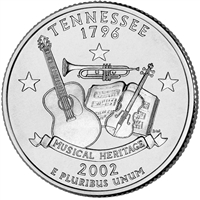 2002-P USA Statehood Quarter - Tennessee Brilliant Uncirculated (MS-63)