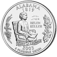 2003-D USA Statehood Quarter - Alabama Brilliant Uncirculated (MS-63)