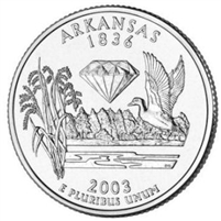 2003-D USA Statehood Quarter - Arkansas Brilliant Uncirculated (MS-63)