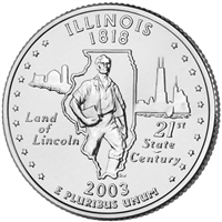 2003-P USA Statehood Quarter - Illinois Brilliant Uncirculated (MS-63)