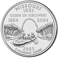 2003-D USA Statehood Quarter - Missouri Brilliant Uncirculated (MS-63)