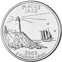 2003-P USA Statehood Quarter - Maine Brilliant Uncirculated (MS-63)