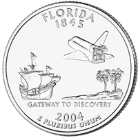 2004-D USA Statehood Quarter - Florida Brilliant Uncirculated (MS-63)