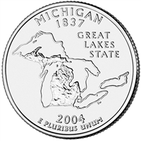 2004-P USA Statehood Quarter - Michigan Brilliant Uncirculated (MS-63)
