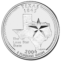 2004-D USA Statehood Quarter - Texas Brilliant Uncirculated (MS-63)