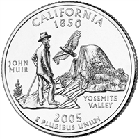 2005-P California USA Statehood Quarter Brilliant Uncirculated (MS-63)