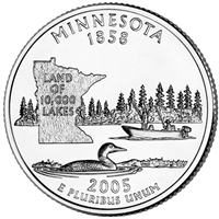 2005-P Minnesota USA Statehood Quarter Brilliant Uncirculated (MS-63)