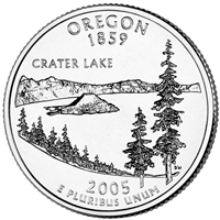 2005-P Oregon USA Statehood Quarter Brilliant Uncirculated (MS-63)
