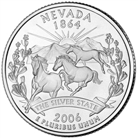 2006-P Nevada USA Statehood Quarter Brilliant Uncirculated (MS-63)
