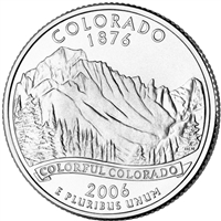 2006-P Colorado USA Statehood Quarter Brilliant Uncirculated (MS-63)